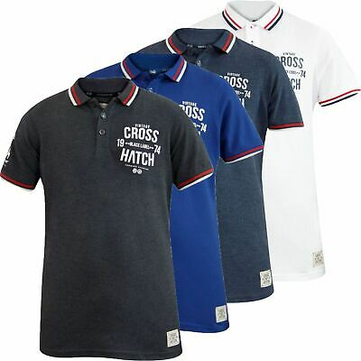 Crosshatch Mens T Shirts PK Polo Shirt Button Pique Top Multi-Color Sizes S-2XL