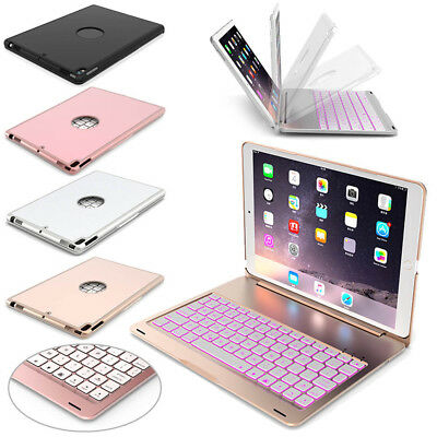 """For iPad 9.7"""" 2018 6th Gen Bluetooth Aluminum Keyboard Smart Case Stand Cover AU"""