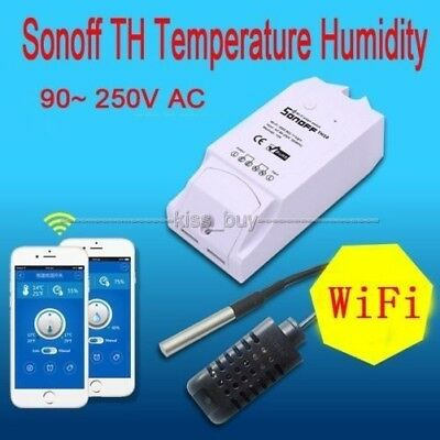 Sonoff TH Temperature Humidity Monitor WiFi Wireless Smart Home Switch Phone APP