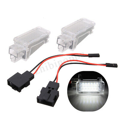 2x 18 LED Boot Footwell Door Courtesy Light For Audi A3 A4 A6 Q7 Q5 RS4 VW Skoda