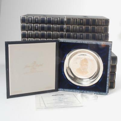 Set Of 25 Franklin Mint Sterling Silver Presidential Plates W/ Boxes & Coa