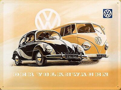 VOLKSWAGEN , Retro metal Aluminium Sign Vintage Garage shed Man Cave wall