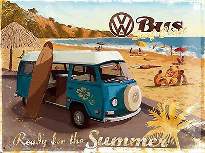 VOLKSWAGEN CAMPER, Retro metal Aluminium Sign Vintage Garage shed Man Cave wall