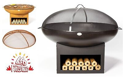 Fire Pit Ice Bowl Black Rust Accessories Grill Patio Heater Stand Base Firepit