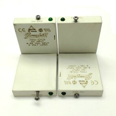 Lot of 4 Grayhill 70G-IDC5 Solid State Relay Module In: 3-32VDC Out: 5VDC 10mA