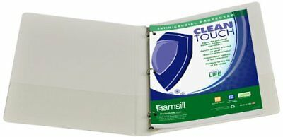 """Samsill Antimicrobial Insertable Round Ring Binder - Letter - 8.50"""" X (sam18217)"""