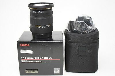 Sigma EX 17-50mm F/2.8 OS HSM DC Lens For Canon DSLR Cameras-Mint Condition