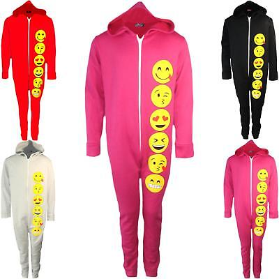 Emoji 1Onesie All In One Pajamas Emoticons PJ Smile Face Girls New Kids Age 7-14