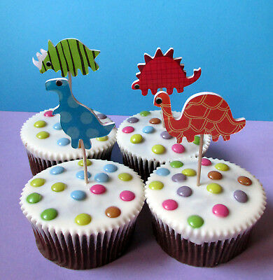 Dinosaurier -  24 Cupcake Muffin Cake Topper picks - Sticks - Käsepicks - Dino