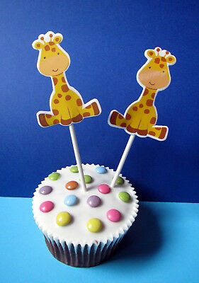Giraffe - 24 XL Cupcake Muffin Cake Topper picks - Topperpicks - Käsepicks