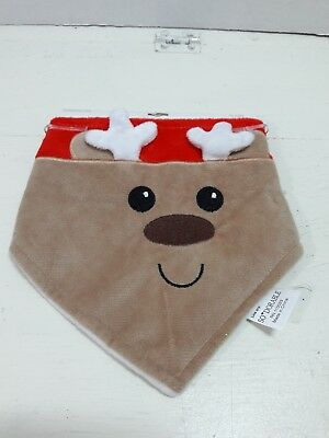 So Dorable Baby Unisex 0-12 Months Reindeer Christmas Bandana Bib