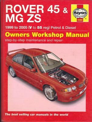 Rover 45,mg Zs,zs+,120,180,impression,connoisseur,se,td Haynes Manual 1999-2005