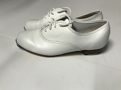 Stevens Stompers White Tap Shoes Good Condition 9 2w Free Shipping!