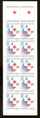 FRANCE B601a SEMI-POSTAL BOOKLET, MINT NEVER HINGED (NH) RED CROSS