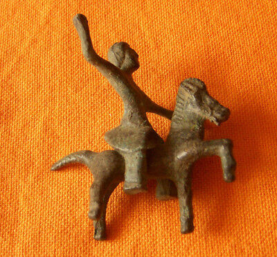 A209.Roman/Celtic bronze horse and rider composition