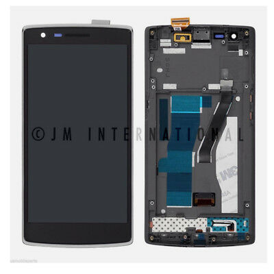 OEM OnePlus 1 1+1 LCD Display Touch Screen Digitizer Glass + Frame Assembly