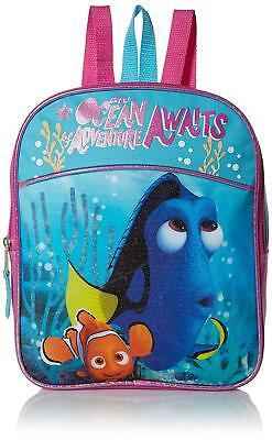 Disney Girls' Finding Dory Mini Backpack, Blue/Hot Pink