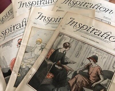 1924 Inspiration 6 Magazine Woman's Institute Sewing Fashion Domestic Arts Lot