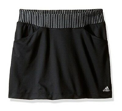 ADIDAS Girls Black Rangewear Golf Sports Skort UPF 50+ 13-14 Years BNWT