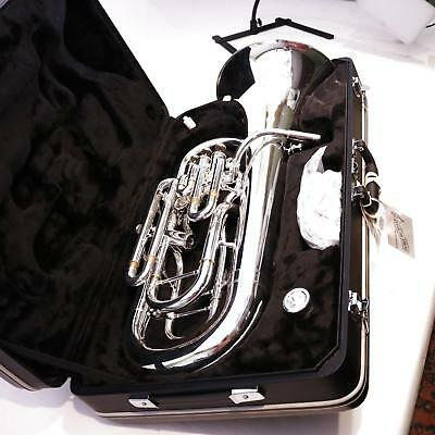 Jupiter JEP1020S Four Valve Euphonium 3+1 in Silver Plate GORGEOUS DISPLAY MODEL