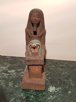 Rare Antique Ancient Egyptian Statue pharao Horemheb Hold God Horus1319-1292BC