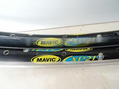 New Mavic Cxp21 Clincher Pair Of Rim 32H Nos New Track Vintage