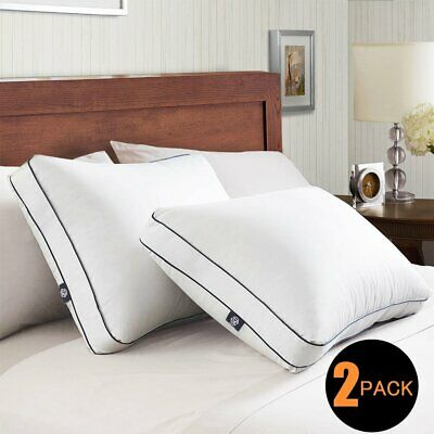 2Pack Cool Comfortable Hotel Down feather Bed Sleeping Pillows King Size