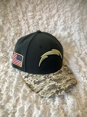 new arrival f10be f6720 New Era LA Chargers Camo Salute to Service On-Field Fitted Hat Size 7 1