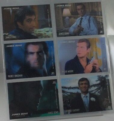 JAMES BOND in MOTION Lenticular 6-Card Chase SET Rittenhouse JB1-JB6 Connery
