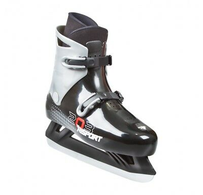 Risport 203 Ice Skate Size Euro 38 Black And Grey Colour With Dual Cli