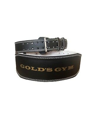 Golds Gym Weight Lifting Belt Inch Leather Lumbar Back Support Power Training