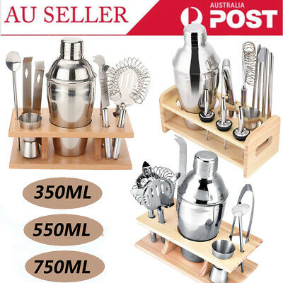 350-750ML Stainless Cocktail Shaker Set Maker Mixer Martini Bar Bartender Kit