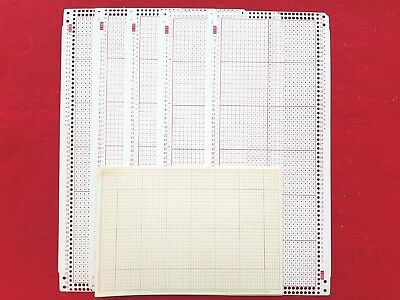 Studio Silver Reed Knitting Machine 24 Stitch Sk321 Sk323 Blank Punch Cards X5