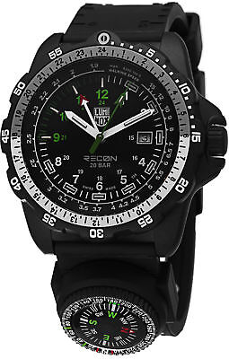 Luminox Men's 8832.MI Recon NAV SPC Compass GMT Black Rubber Watch 8832.MI.L
