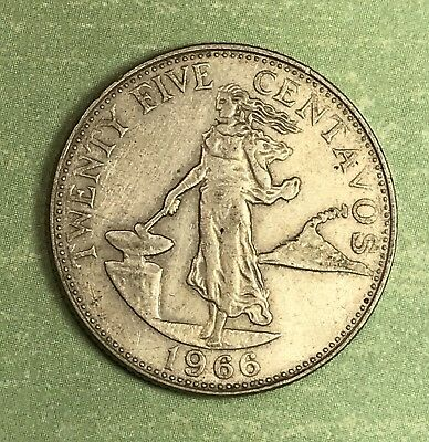 1966 Philippines 25 Centavos. Collector Coin For Your Collection.2