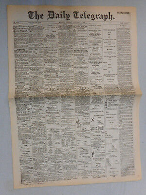 #t108.   The Daily Telegraph Newspaper Replica - January 1St 1901