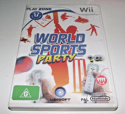 World Sports Party Nintendo Wii PAL *Complete* Wii U Compatible