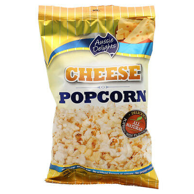 AUSSIE DELIGHTS CHEESE POPCORN TASTY SNACK MOVIE ALL NATURAL GLUTEN FREE 30g