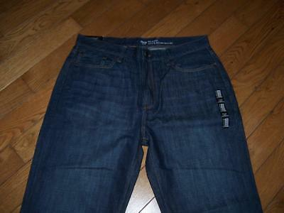 Men's Nwt Gap Relaxed Coupe Decontractee Dark Denim Jeans Size 36 X 30
