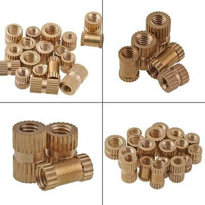 M2/M2.5/M3/M4/M6 Brass Cylinder Knurled Threaded Round Insert Embedded Nuts