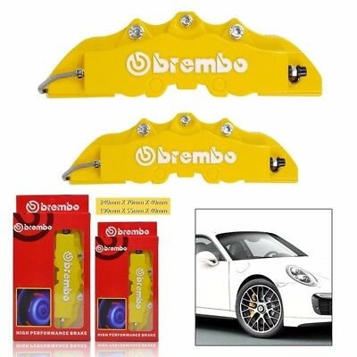 4x 3D Brembo Style Car Universal Disc Brake Caliper Covers Front & Rear Kits NEW