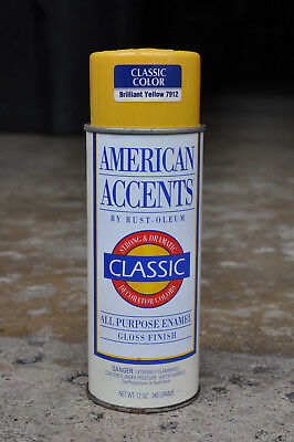 Rust-Oleum American Accents ~Vintage Spray Paint Can~1991~ Brilliant Yellow 7912