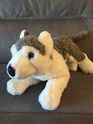 """Toys R Us - Animal Alley - Husky Pup 16"""" Plush Toy"""