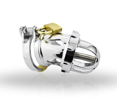 Titanium Alloy Male Chastity Device Chastity Cage Chrome Plated Plating A199