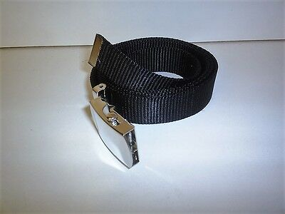 Boys Girls  Black School Web Trouser Belts Quick Release Buckle 20 X 27  Waist
