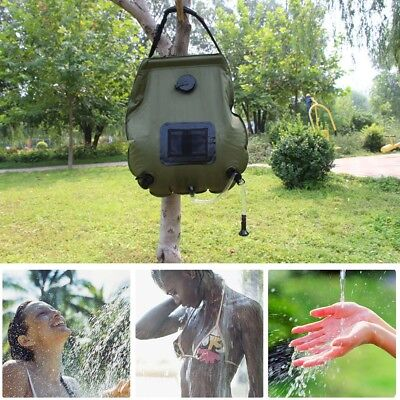 20L Portable Solar Heated Shower Outdoor Hiking Camping Water Heater Bathing Bag