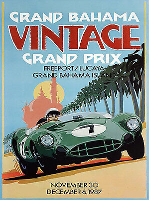 Grand Prix, Retro metal Aluminium Sign Vintage Garage shed Man Cave wall