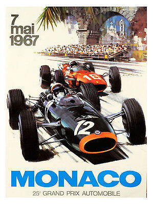 Formula 1 Monaco ,Retro metal Aluminium Sign Vintage Garage shed Man Cave wall