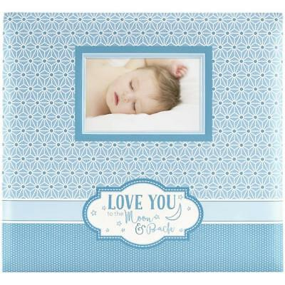 Scrapbooking Album Love you to the moon blau 12x12 inch