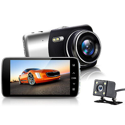 "4.0"" Vehicle Dual Lens Car Camera DVR Video Registrator Dash Cam Full 1080P HD"